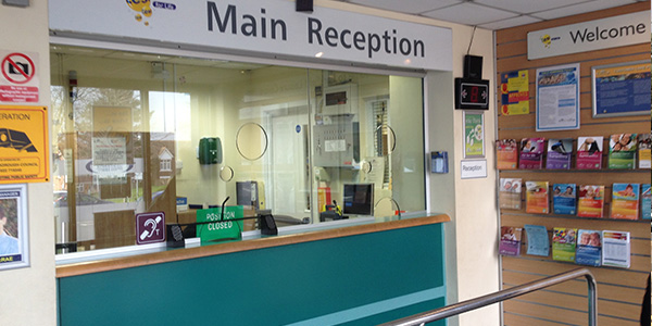 Larkfield: Reception area